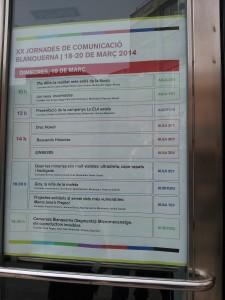 LA ELA EXISTE en las XX Jornadas de la Facultat de Comunicació Blanquerna.