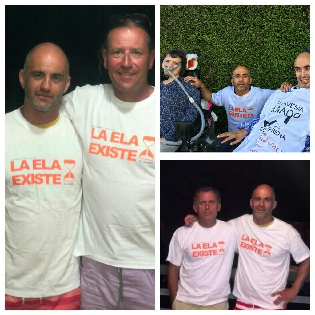 Tres hombres contra el mar y contra la ELA