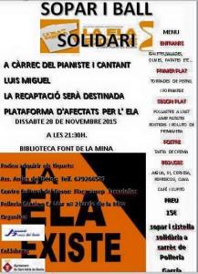 Cena Solidaria en Sant Adrià (Barcelona)