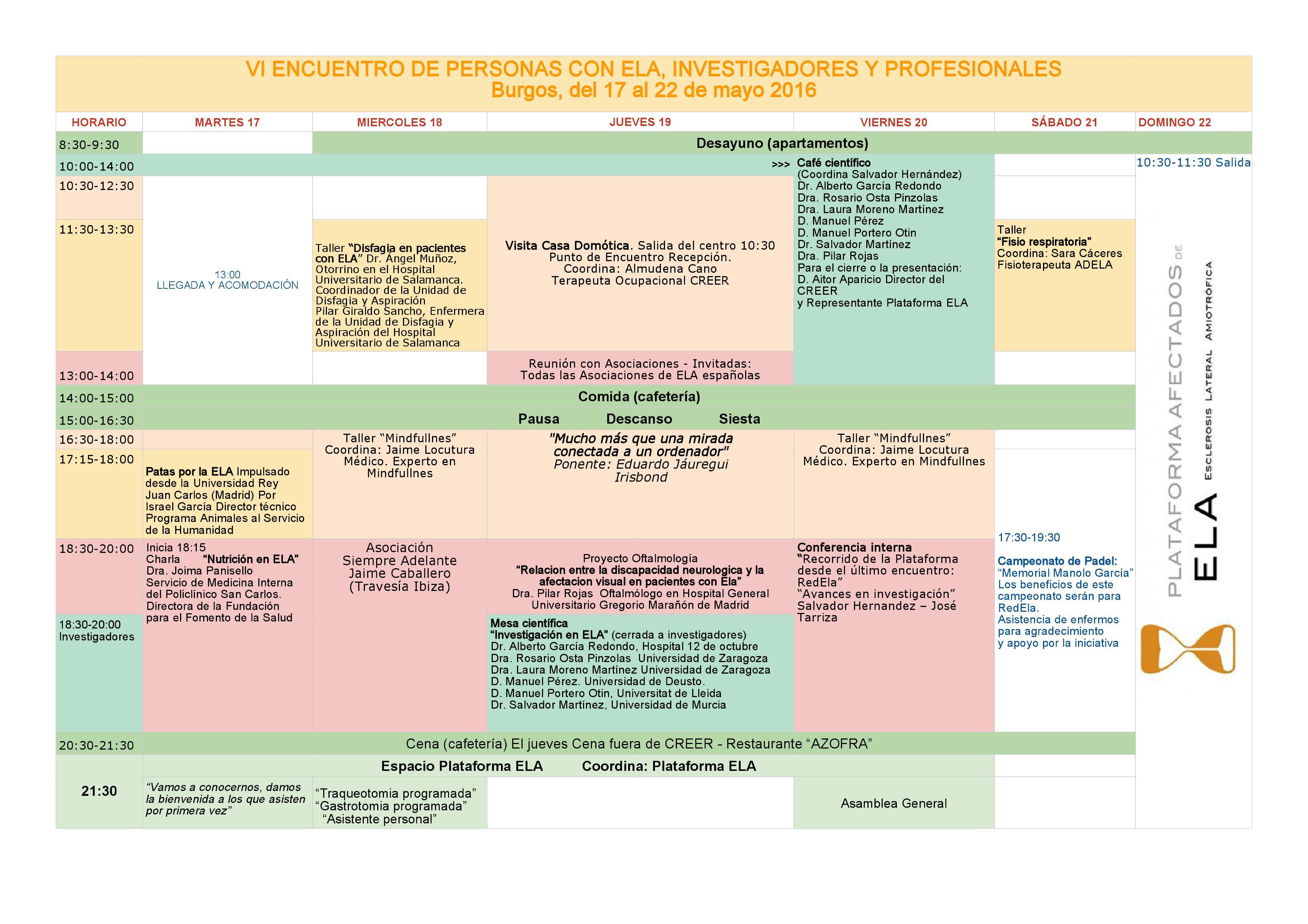 programa #6encuentroela