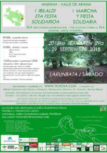 Valle de Arana, I MARCHA y fiesta solidaria