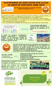 Plataforma de Afectados por la ELA. 10 Años de historia (2008-2018).