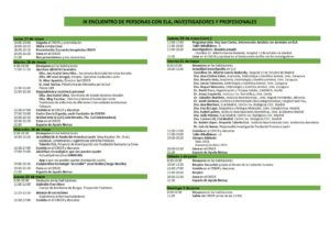 Programa IX Encuentro Afectados ELA ela