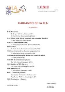 HABLANDO DE LA ELA