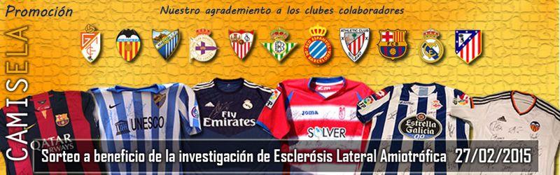 Camisela Solidaria: Tus Equipos se mojan por la ELA