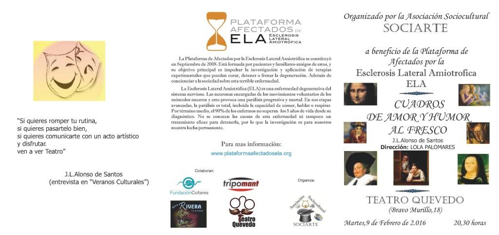 SOCIARTE organiza teatro por ELA