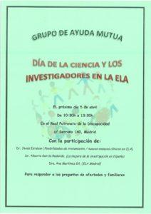 Día de la Ciencia y los Investigadores de la ELA